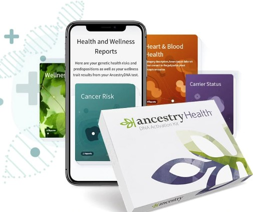 "Introducing AncestryHealth®! ""With new AncestryHealth®, you can discover how your DNA might influence certain health conditions—and the steps you can take with a healthcare provider to chart a healthier path forward."" Introductory price for AncestryHealth® is just $149! Existing AncestryDNA customers can order AncestryHealth® for just $49!"