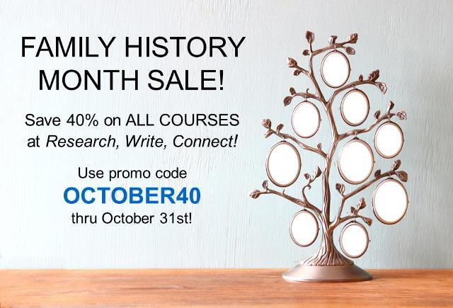 October is National Family History Month and are you ready to learn more about how to create lasting tributes of your ancestors? Up your genealogy and family history game with DNA and writing courses from family history expert Lisa Alzo and Research, Write, Connect!