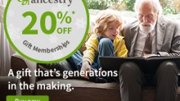 Save 20% on an Ancestry® gift membership and get Table Topics - a game of family-themed questions that'll have people talking, laughing, and listening - for FREE!