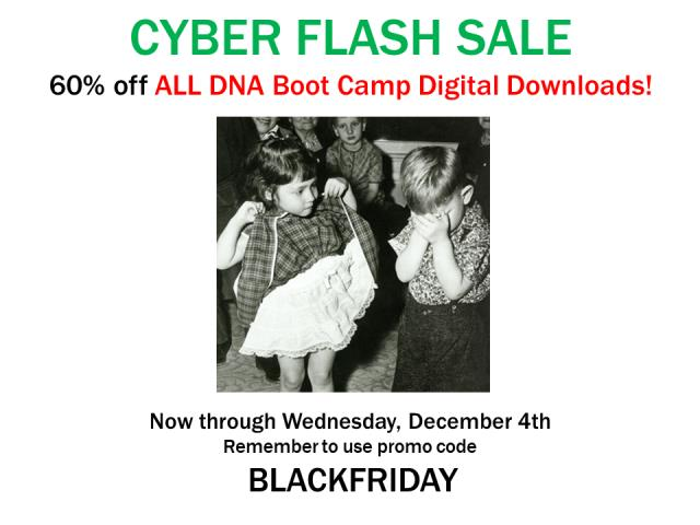 Save 60% on ALL DIGITAL DOWNLOADS! at DNA Boot Camp!