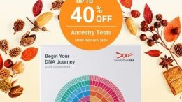 FamilyTreeDNA's Thanksgiving Sale is underway - save up to 40% on Family Finder DNA test kit, Y-DNA, mtDna, and test bundles!