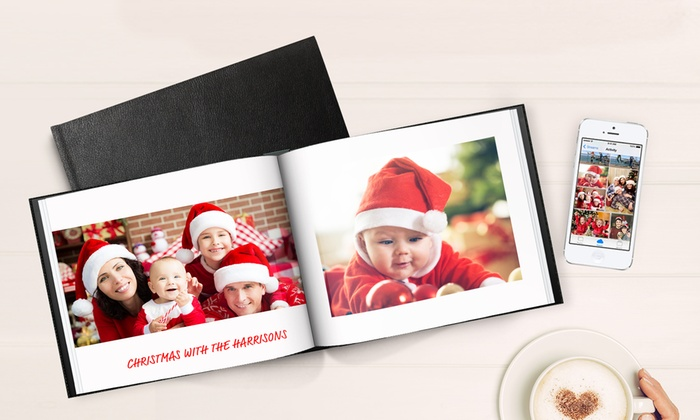 "PrinterPix: Save up to 94% on 8.5"" x 11"" Personalized Leather Bound 40-page Photo Book! Regularly $$79.95, now just $0.99!"