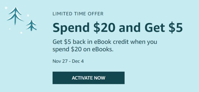Earn $5 in eBook credit when you spend $20 on eBooks at Amazon! There are SO MANY genealogy books available on Amazon as Kindle eBooks . . . . now is the time to get the books and sale PLUS earn a reward! Sale valid through December 4th, 2019.