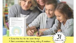 "Genealogy Kit for Kids by EasyGenie: ""The Genealogy Kit for Kids by EasyGenie is a screen-free activity pack that helps teach children ages 6 and up family history, geography, cultural traditions, and more! This family activity kit is designed to get boys and girls curious about their family history and talking with parents, siblings, grandparents, cousins, aunts, and uncles."""