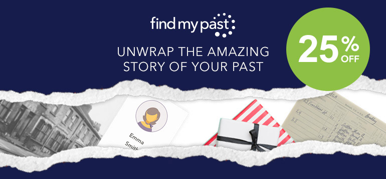Findmypast sale ENDS SOON! Save 25% on a variety of 1- and 3-month subscription plans! Genealogy Bargains for Friday, January 24th 2020
