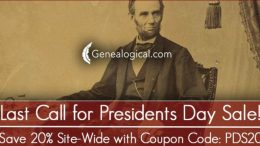 LAST CHANCE to save on ALL PRODUCTS - including NEVER ON SALE BOOKS - at Genealogical Publishing Company during the President's Day Sale!