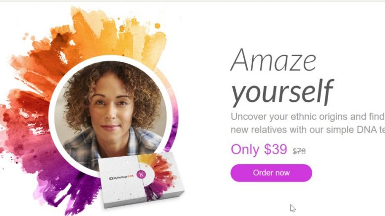 LOWEST PRICES OF THE YEAR on MyHeritage DNA - just $39 plus FREE SHIPPING when you order 2 or more kits! MyHeritage DNA Winter Sale on NOW!
