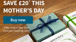 Save 25% on AncestryDNA! Mother's Day in the UK is Sunday, March 22nd this year - and Ancestry has the world's most popular DNA test kit for just £59!
