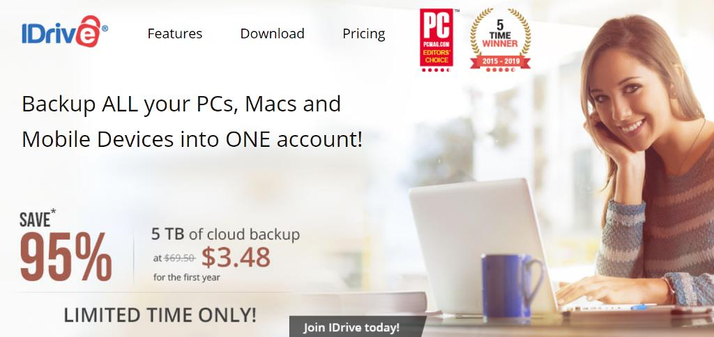 World Backup Day Sale! iDrive has an AMAZING DEAL right now including 95% off its 5TB automatic backup program - one year just $3.48!