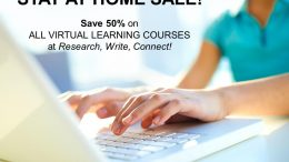Learn how to create family stories that will last forever! Save 50% on ALL VIRTUAL LEARNING courses at Research, Write, Connect! led by expert Lisa Alzo