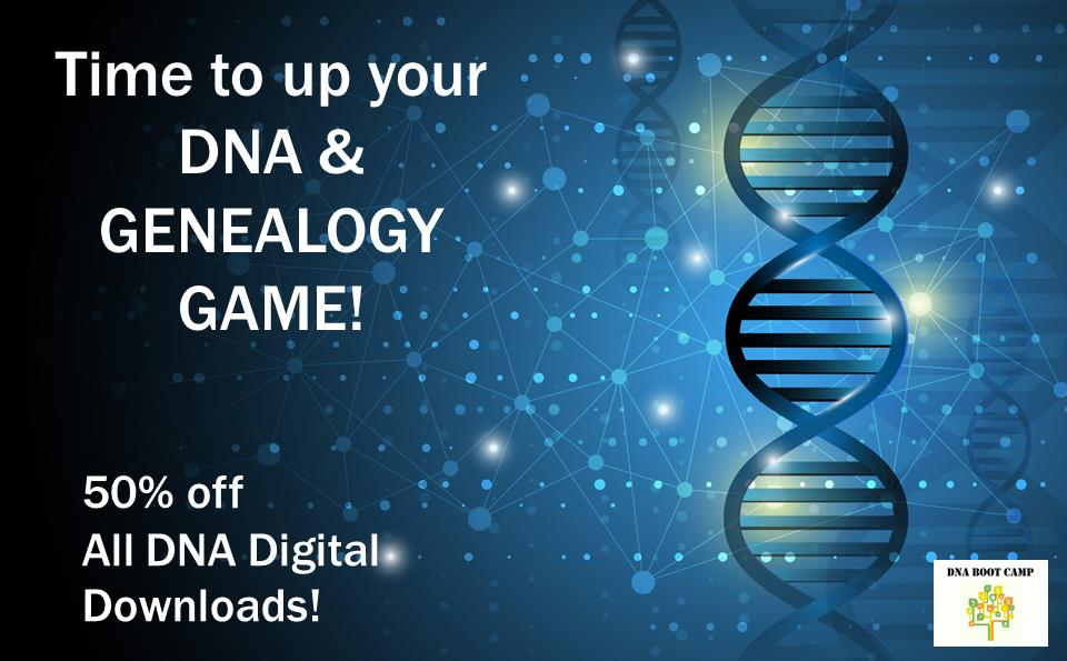 Save 50% on ALL DNA Boot Camp digital downloads during our latest sale through March 31st! Use promo code SAVE50 at checkout to save!