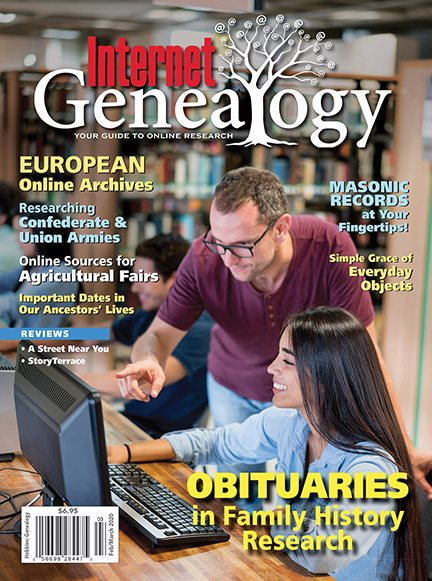 With the COVID-19 situation, and with the majority of people being quarantined to their homes, we thought we would take this opportunity to offer you this FREE issue download of Internet Genealogy magazine so you would have something to add to your reading collection. There are no strings attached.
