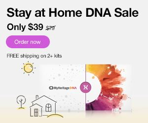 Save 50% on MyHeritage DNA during the MyHeritage Stay at Home Sale! Get the MyHeritage DNA Ancestry-Only test kit for just $49! This is the same autosomal DNA test kit as AncestryDNA and other major DNA vendors!  BONUS! Purchase 2 or more MyHeritage DNA test kits and standard shipping is FREE! Sale good through Thursday, April 30th.