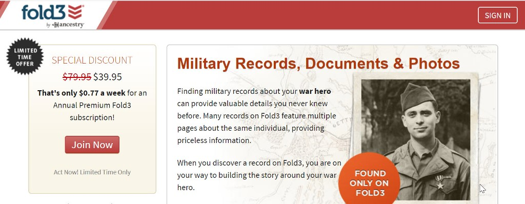 Save 50% on an Annual Subscription at Fold3 and get access to military records, city directories and newspapers. Did you know that Fold3 has over 2 million pages (around 100 million names) in its City Directories Collection with records dating back to 1785? Before phone books came into the picture, many cities and towns published directories of their residents. Regularly $79.95, you pay just $39.95!