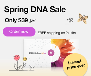 Save 50% on MyHeritage DNA during the MyHeritage Spring DNA Sale! Get the MyHeritage DNA Ancestry-Only test kit for just $39! This is the same autosomal DNA test kit as AncestryDNA and other major DNA vendors!  BONUS! Purchase 2 or more MyHeritage DNA test kits and standard shipping is FREE! Sale good through Sunday, May 31st, 2020.