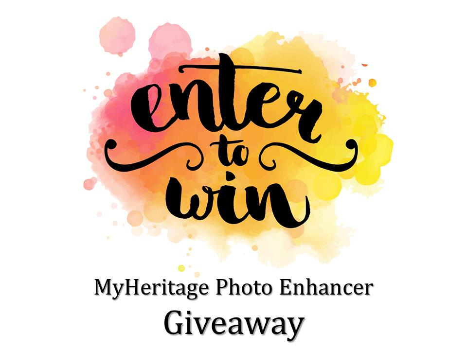 Enter the MyHeritage Photo Enhancer Giveaway by 11:59 PM MDT on Saturday, June 20th and you could win a MyHeritage DNA test kit valued at $79!