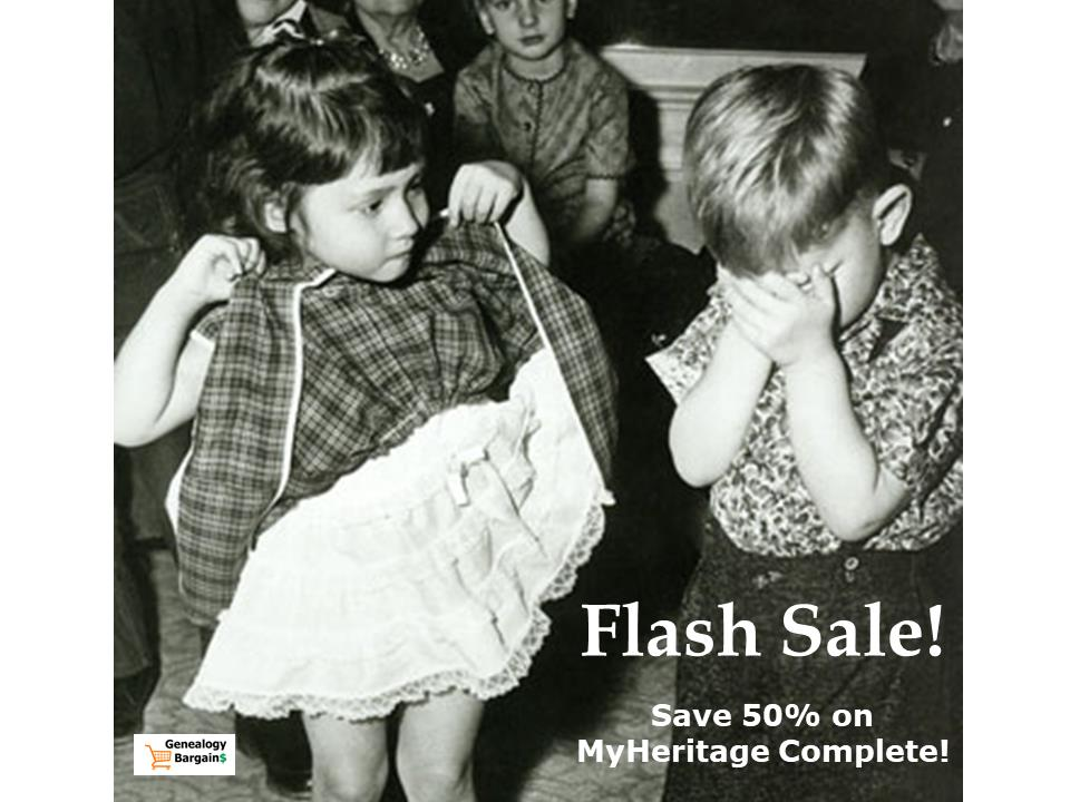 Ready to take your family history to the NEXT LEVEL? SAVE 50% on MyHeritage Complete and get access to amazing features including SmartSearch, family photo enhancers and more!