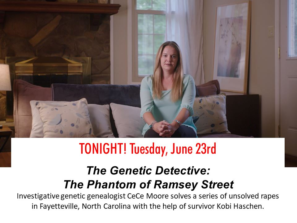 From 2006 to 2008, a series of unsolved rapes haunted residents in Fayetteville, North Carolina. Investigative genetic genealogist CeCe Moore works on the case with the Fayetteville Police Department while she attends CrimeCon, an annual true crime convention held in New Orleans. The episode includes interviews with survivor Kobi Haschen who bravely came forward with her story, Fayetteville Police Department's Lieutenant John Somerindyke and former supervisor Lieutenant Kellie Berg, sexual assault nurse examiner Liz Herring and reporter Paul Woolverton.