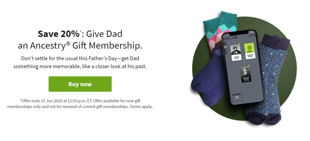 Don't settle for the usual this Father's Day—get Dad something more memorable, like a closer look at his past. Save on a variety of Ancestry Gift Memberships all at 20% off***!