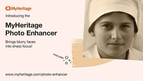 Please click HERE to learn more about the new MyHeritage Photo Enhancer and take some time to run your family photos through the enhancement process!