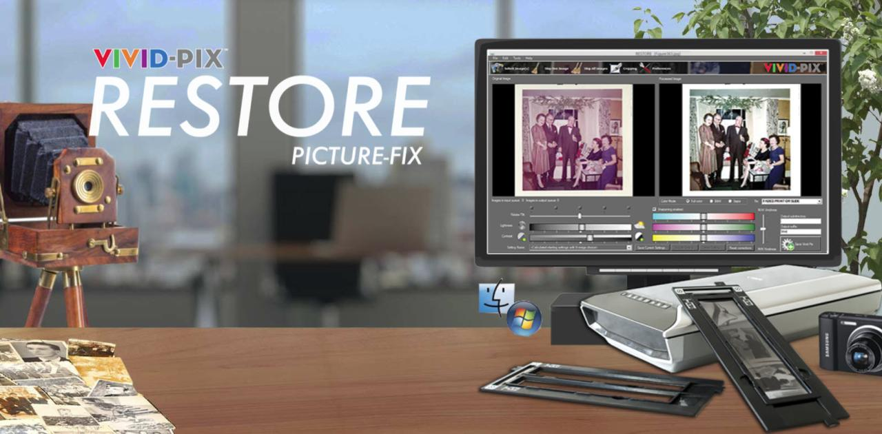 Check out this amazing EXCLUSIVE offer from Vivid-Pix: Buy One, Give One Sale! Purchase a Mac or Windows version of Vivid-Pix RESTORE and receive a free Gift Coupon Code to give to another! Click HERE for details.