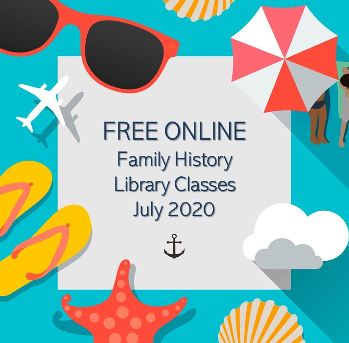The Family History Library in Salt Lake City, Utah, announces free ONLINE family history classes for July 2020 featuring Germans from Russia and US Probate Records!