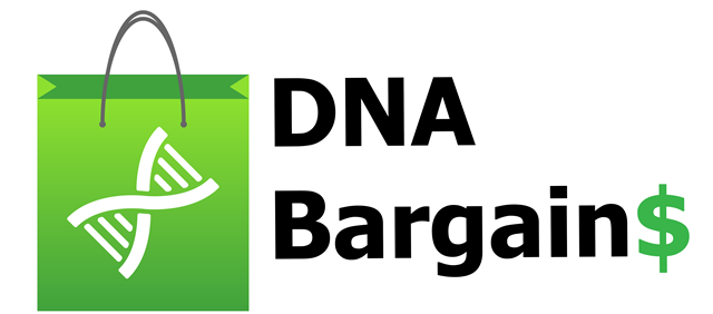 DNA Bargains has the best deals on DNA kits from AncestryDNA, MyHertiage and more PLUS the latest news on DNA testing for genealogy.