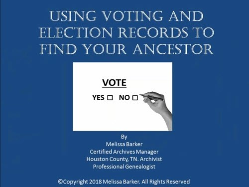 Using Voting and Election Records to Find Your Ancestors