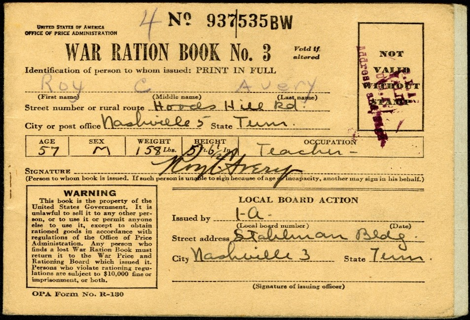"Melinda in Florida asks: ""I have been given my Grandmother's World War II ration books. She used to tell me stories about the rationing of food and other essential items and how the family used their ration stamps. What would be the best way to preserve these books? I would like for my descendants to know about these stories and what the books meant."""