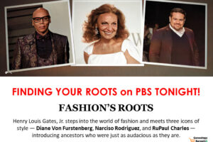 Henry Louis Gates, Jr. steps into the world of fashion and meets three icons of style — Diane Von Furstenberg, Narciso Rodriguez, and RuPaul Charles — introducing ancestors who were just as audacious as they are.