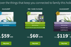 This EARLY BLACK FRIDAY deal was just announced and you can get the world's most popular DNA test kit - AncestryDNA - regularly $99, now just $59 USD!* The Holidays are around the corner - and this year the perfect gift is AncestryDNA! Your DNA reveals more than ever before—from your origins to your family's health. PLUS check out the sale on AncestryHealth® and the DNA plus Family Tree Bundle!