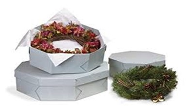 If you have handmade Christmas wreaths that you would like to preserve from year to year like Kevin has, there is an archival box for those too.  Again, you will need archival tissue paper and an archival box. Loosely wrap the wreath in the tissue paper and lay in the specially made archival box for Christmas wreaths by Gaylord Archival found here. Once the wreath is in the archival box it's then safe to put into a storage container with the other Christmas items.