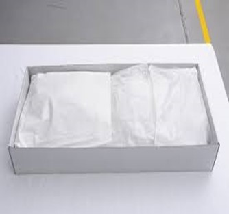 Line the archival box with the archival tissue paper. Be sure to use enough of the tissue paper to give enough cushion for the flowers to lay on. The flowers, especially if they are already falling apart as Patricia describes, need to have a lot of support in the box so when they are stored, they will not get damaged. Once the flowers are laid in the tissue lined box, place archival tissue paper on top of the flowers and cover completely. Be sure not to press down as to crush the flowers, gently lay the archival tissue paper on top of the flowers.