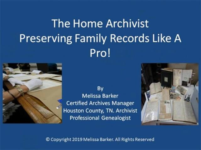 Want to know more about preserving your ancestor's records?