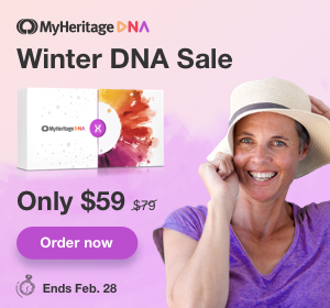 Save $20 USD on MyHeritage DNA! Your DNA test offers you the powerful experience of discovering what makes you unique and learning where you really come from. MyHeritage DNA is proud to be enhancing the lives of users all around the world. Regularly $79 USD, you pay just $59 USD ... PLUS FREE SHIPPING when you purchase 2 or more MyHeritage DNA kits! Sale valid through Sunday, February 28th, 2021