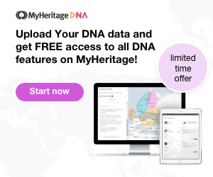 For a limited time only, between February 21 through March 8, 2021, we are waiving the unlock fee. You can now upload your DNA data* to MyHeritage and get access to your Ethnicity Estimate, Genetic Groups, and other advanced DNA tools such as the Chromosome Browser, AutoClusters, and Theory of Family Relativity™ — absolutely free! These features will remain free forever for the DNA kits you upload to MyHeritage during this week.