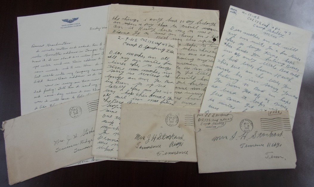 Marie Stockard Son's WWII Letters, Houston County, Tennessee Archives