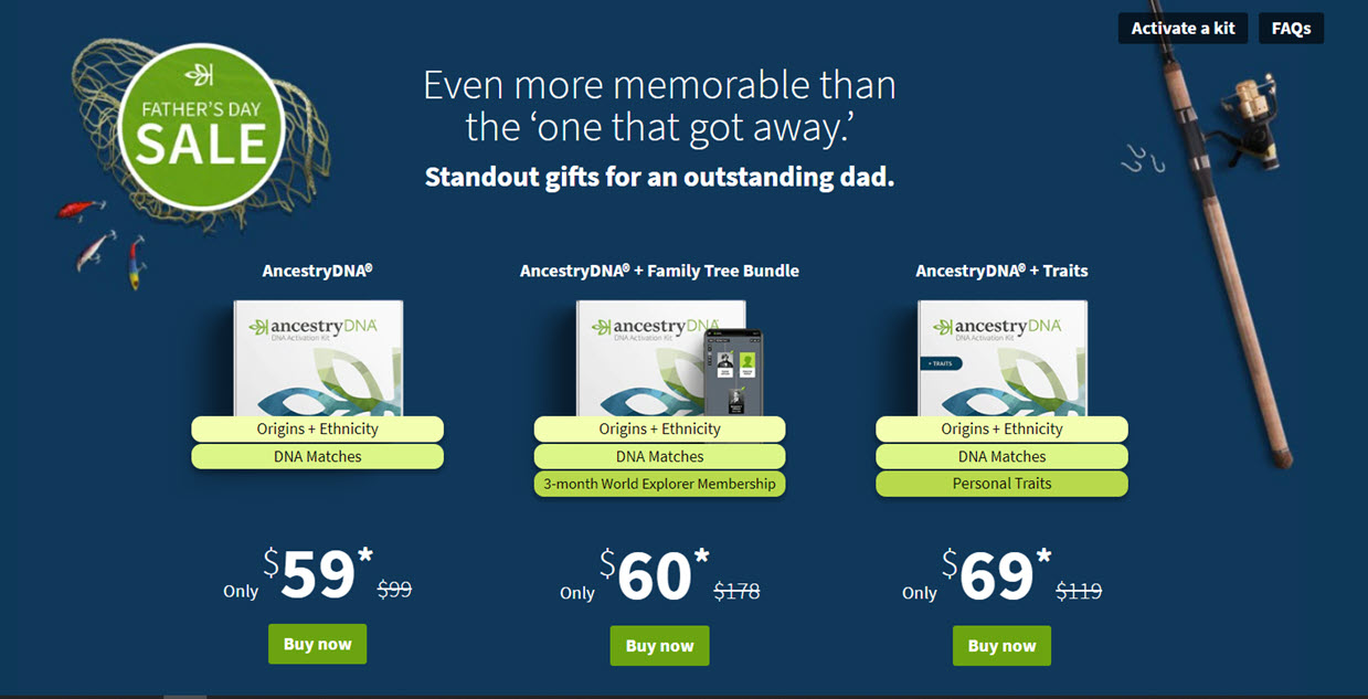 BONUS! For just $1 USD more, you can get an AncestryDNA test kit PLUS a 3-month subscription to Ancestry World Explorer!