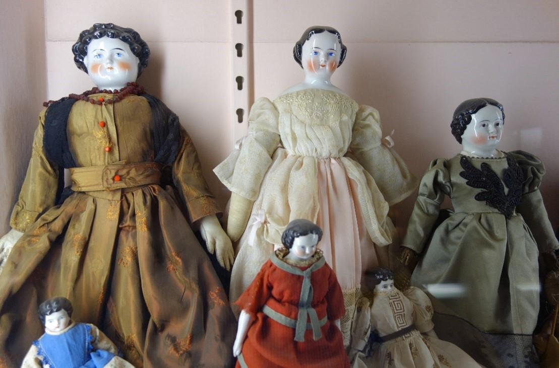 China Dolls 1850-1870, Courtesy Fairbanks Museum and Planetarium